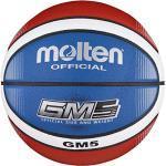 Molten BGMX5-C Ballon de basket Rouge/blanc/bleu Taille 5