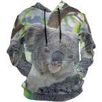MONTOJ Pull à Capuche avec Cordon de Serrage Motif Koala 3D - Multicolore - Taille XL