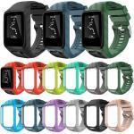 Montre Bracelet Silicone Légère Accessoires Pour Tomtom Runner 2 & 3 / Golfer 2 Rouge