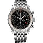 Montre Breitling Navitimer 1 Chronograph GMT cadran noir bracelet acier 46 mm Homme