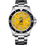 Montre Breitling Superocean Automatic cadran jaune bracelet acier 44 mm Homme