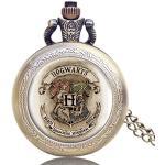 Montre de Poche pour Homme, Harry Potter Pocket Watch Hogwarts rétro Classic Quartz Pocket Watch with Chain, Gift for Men