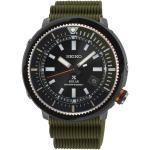 Montre Seiko Prospex Diver's quartz cadran noir bracelet silicone kaki 46,7 mm Homme
