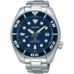 Montre Seiko Prospex Mer Diver's automatique cadran bleu guichet date à 3 heures bracelet acier 45 mm Homme