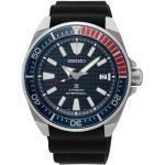 Montre Seiko Prospex Mer Diver's automatique cadran bleu index samuraï bracelet silicone noir 42,6 mm Homme