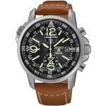 Montre Seiko Prospex Mer quartz solaire chronographe cadran noir bracelet cuir marron 42 mm Homme