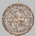 Motif Lumineux Sphère De 30 cm Diamètre Micro Led Blanc Chaud Et Flash