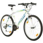 Multibrand Distribution PROBIKE 26 Pouces VTT 18 Vitesses, Vélo Homme et Vélo Garçon, adapté de 165-183 cm (Blanc)