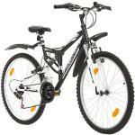 Multibrand Distribution Probike Extreme 26 Pouces VTT Tout Suspendu 18 Vitesses, vélo Homme et vélo Femme, Convient de 155-180 cm ((Noir avec Garde-Boue))