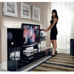 MUNARI meuble pour TV BELT23 (Noir - MDF/cristal)