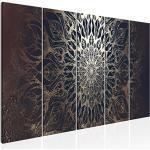murando Impression sur Toile intissee Mandala 200x80 cm 5 Pieces Tableau Tableaux Decoration Murale Photo Image Artistique Photographie Graphique Orient p-A-0028-b-n