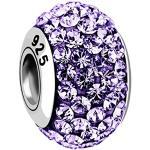 Nenalina 718072-002 Perle en cristal Violet en argent sterling 925 Également compatible avec les bracelets Pandora