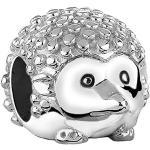 Nenalina 719069-000 Breloque en argent sterling925 brillant en forme de hérisson Également compatible avec les bracelets Pandora