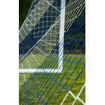 Netsportique Filet de Foot à 11 de 2 Couleurs, 4.5 mm (l'unité) - Blanc/Bleu