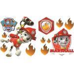 Nickelodeon stickers muraux Paw Patrol Patrol Marshall 2 feuilles d'autocollants