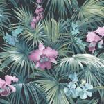Noordwand Papier peint Tropical Flowers Vert