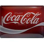 Nostalgic-Art Plaque vintage Coca-Cola – Logo Red Lights – Idée de cadeau pour les fans de Coke, en métal, Déco design retro, 30 x 40 cm
