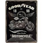 Nostalgic-Art Plaque vintage Goodyear – Motorcycle – Idée de cadeau pour les fans de motos, en métal, Design retro pour la décoration, 15 x 20 cm, 26224