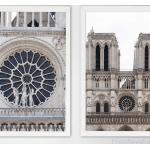 Notre Dame Cathedral Paris Print, Cadeau Pour Copine Avec Un Ensemble De 2 Tirages, Cadeau Les Jeunes Mariés Paris Lune Miel, Décor Chambre À Coucher