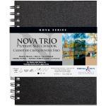 Nova Trio carnet spiralé 50F 15,2x20,3cm 150g - Assortis