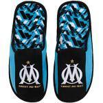 OLYMPIQUE DE MARSEILLE Chaussons Om - Collection Officielle Taille Homme ,Noir Bleu,37 EU