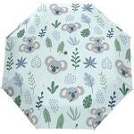 Orediy Parapluie pliable automatique avec motif koala amusant - Coupe-vent - Portable - Résistant au soleil et à la pluie