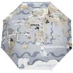 Orediy Parapluie pliable automatique pour enfants Carte du monde Coupe-vent Voyage Compact Portable Soleil Pluie UV