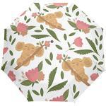 Orediy Parapluie pliant automatique avec motif koala - Coupe-vent - Portable - Résistant au soleil et à la pluie - Résistant aux UV