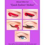 ORIGINAL Quick Eyeliner Stickies MIXED SET 32 pcs. Pochoirs de maquillage pour les yeux