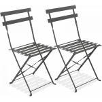 Chaises grises à motif Rome pliables