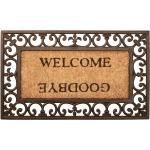 Paillasson en fibre de noix de coco Welcome / Goodbye 75,5 x 44,5cm DEC023210