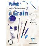 Paint'ON à grain bloc collé 20F A5 250g - Blanc