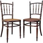 Paire de chaises vintage par Fischel début 1900