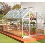 Palram - Serre de jardin en polycarbonate Harmony 6,84 m², Couleur Argent, Ancrage au sol Oui