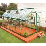 Palram - Serre de jardin en polycarbonate Harmony 7,95 m², Couleur Argent, Ancrage au sol Oui