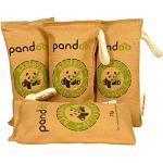 pandoo 4 x75g Désodorisant en bambou naturel avec charbon actif - Purificateur d'air, déshumidificateur, pour 2 ans, sans chimie et polluants et 100% biodégradable