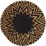 Panier mural Soleil africain tressé panier tissé ethnique et naturel. Boswana.