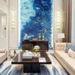Panneau décoratif mural bleu sur mesure Iceland