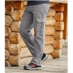 Pantalon en Velours Stretch Cargo