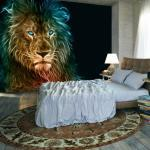 Papier peint - Abstract lion - Décoration, image, art  
