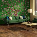 Papier peint - abstraction: arbre (vert) 400x309
