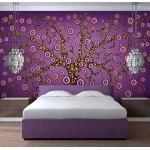 Papier peint - abstraction: arbre (violet) 200x154