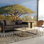 Papiers peints Jardindeco en acacia à motif Afrique