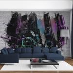 Papier peint - Art urbain : Grande ville moderne 350x270