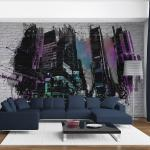 Papier peint - Art urbain : Grande ville moderne 400x309