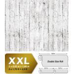 Papier peint aspect bois EDEM 81108BR05 papier peint gaufré à chaud avec dos intissé légèrement texturé au style shabby chic mat blanc gris brun 10,65 m2