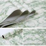 Papier Peint Auto Adhésif En Film Vinyle Avec Motif De Marbre, Pour Comptoirs Ou Armoires De Cuisine, Papier De Contact, Autocollants Muraux Imperméables En Pvc Light Green