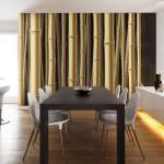 Papier peint - Bamboo - 200x154 - Orient - stems - -