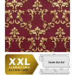 Papier peint baroque EDEM 9085-25 papier peint gaufré à chaud avec dos intissé gaufré avec des ornements floraux 3D satiné rouge violet-bordeaux or 10,65 m
