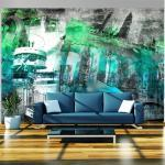 Papier peint - Berlin - collage (vert) 100x70